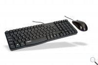Rapoo N1850 Optical Mouse and Keyboard black