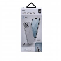 UNIQ Hybrid kryt iPhone 12, iPhone 12 Pro LifePro Tinsel Antimicrobial Lucent Clear čirý