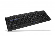 Rapoo 8200M Wireless Multi-Mode Optical Mouse and Keyboard Set Black CZ/SK