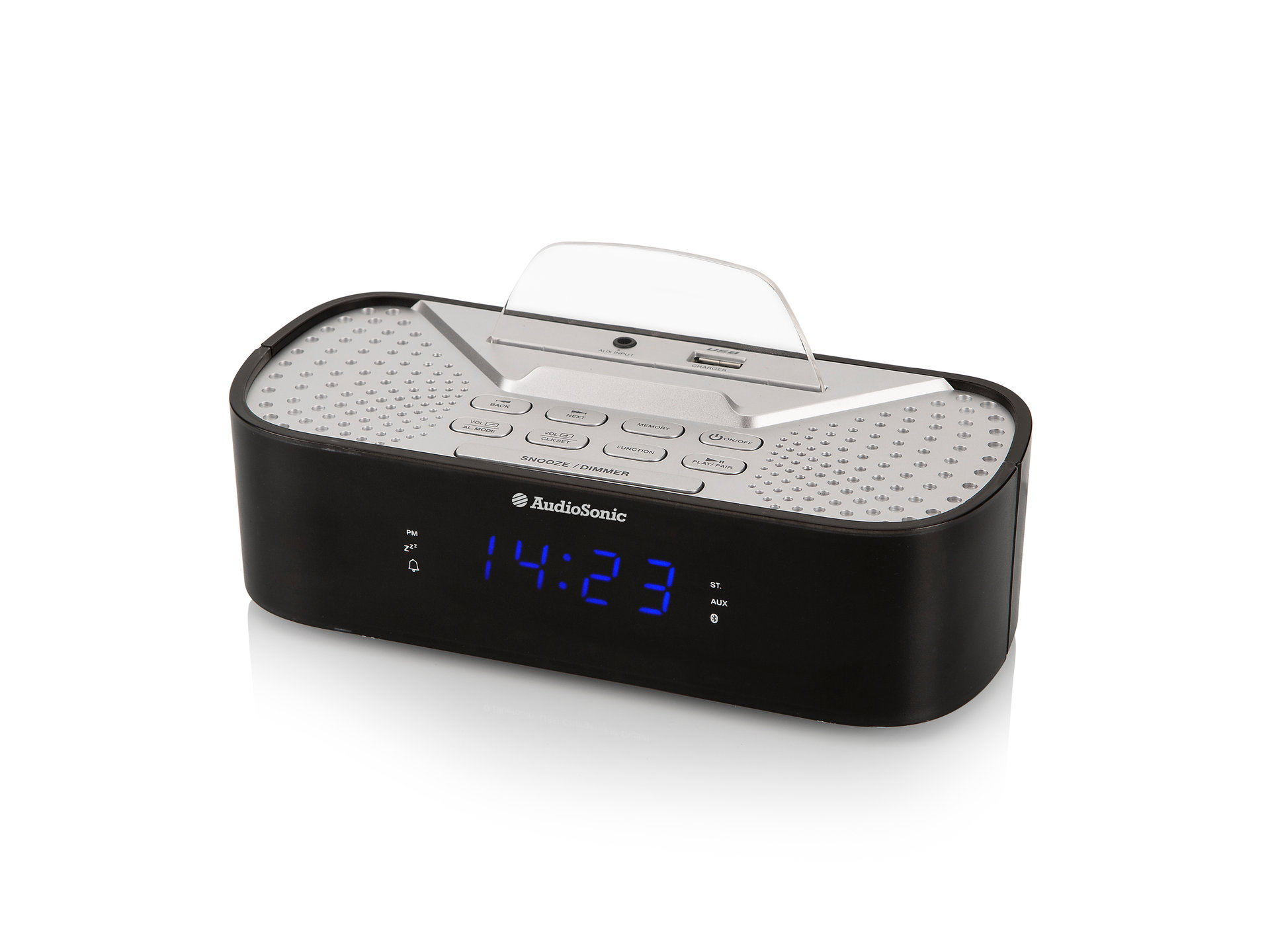 Audiosonic CL-1463 Rádiobudík, Bluetooth, USB