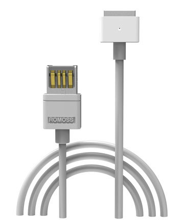 ROMOSS Magsafe2 kabel eUSB MacBook Charging Cable, Output: 16.5V 3.65A 60W, Length:1.8m