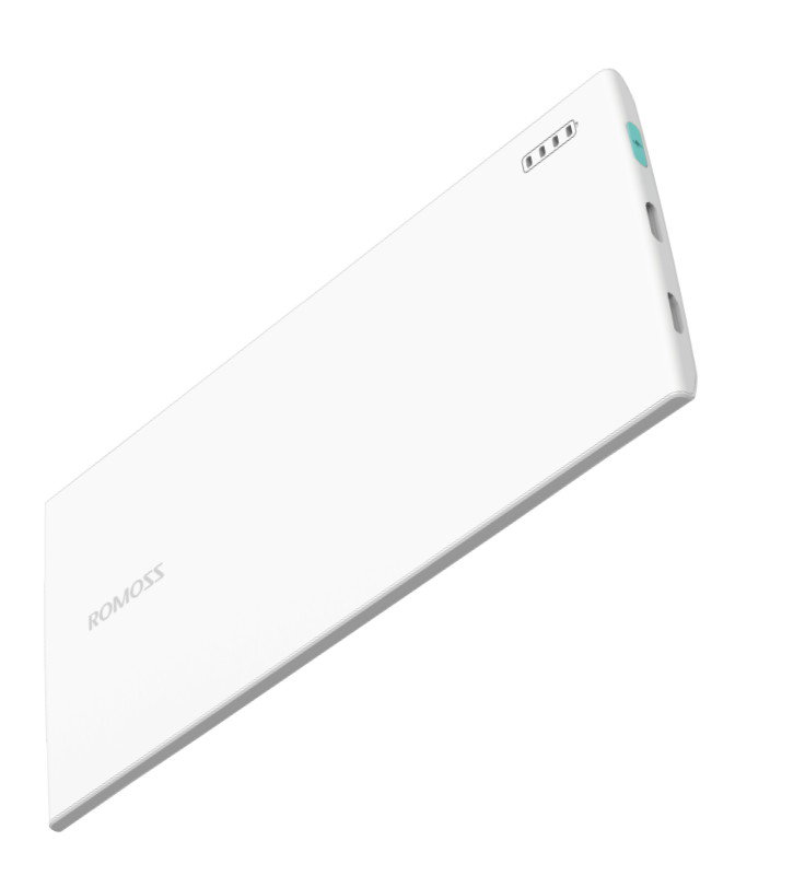 ROMOSS skinny PG 01 White Power Bank,Capacity: 3000mAh (Cell: Li-polymer ),Micro USB & Lightning dua