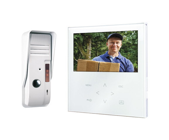 SMARTWARES 10.016.34 Video intercom system 4-wired with 2-way audio communication VD71