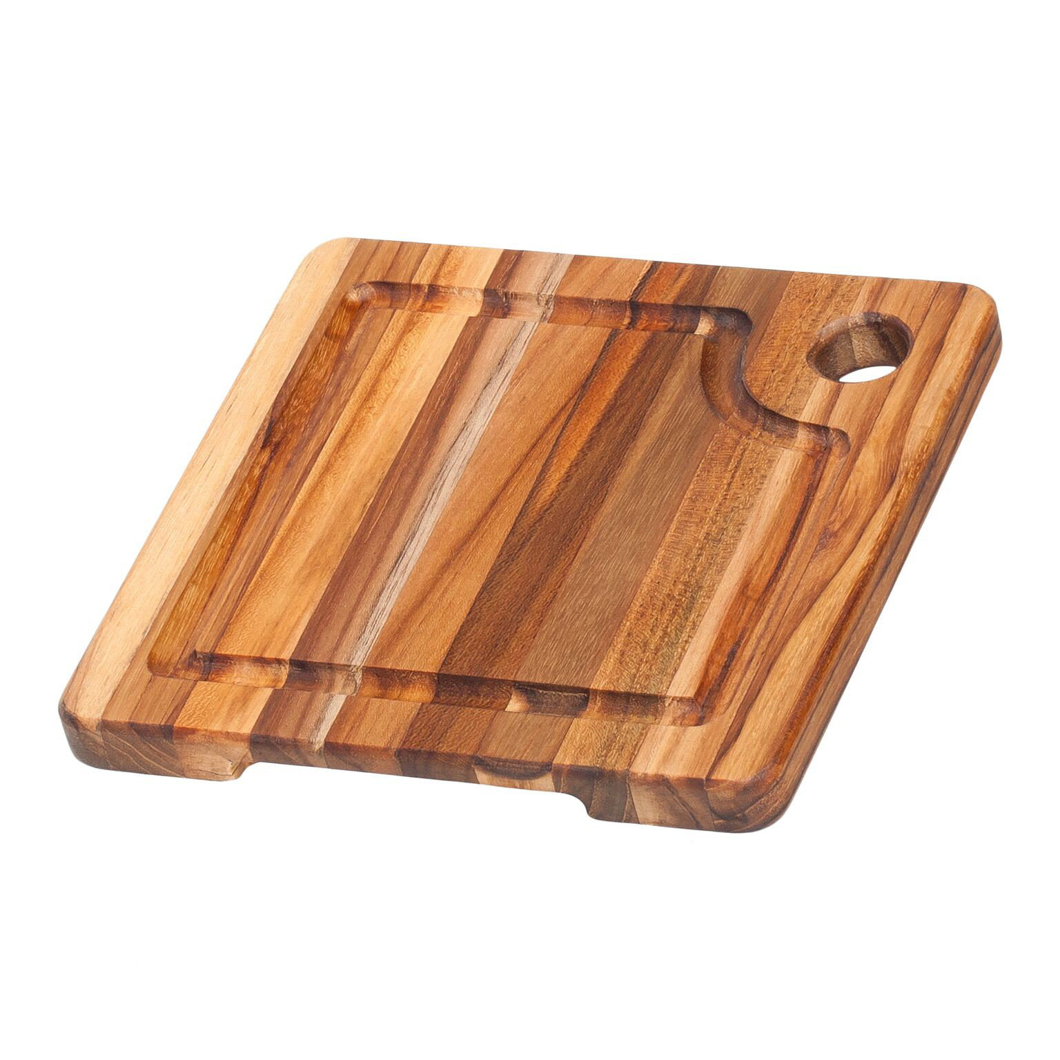 Teak Haus Edge Grain Marine Collection Boards 513 Corner Hole & Juice Groove 20x20x1,9