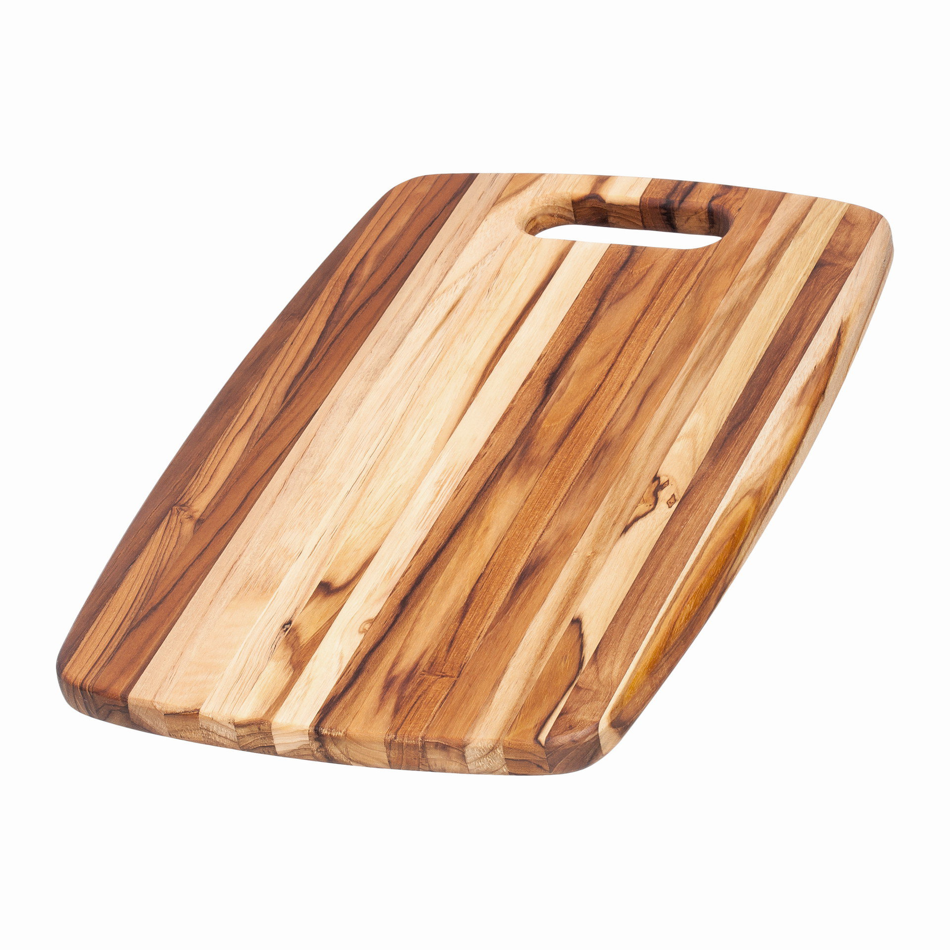Teak Haus Edge Grain Marine Collection Boards 518 Centered Hole Handle 46x30,5x1,9