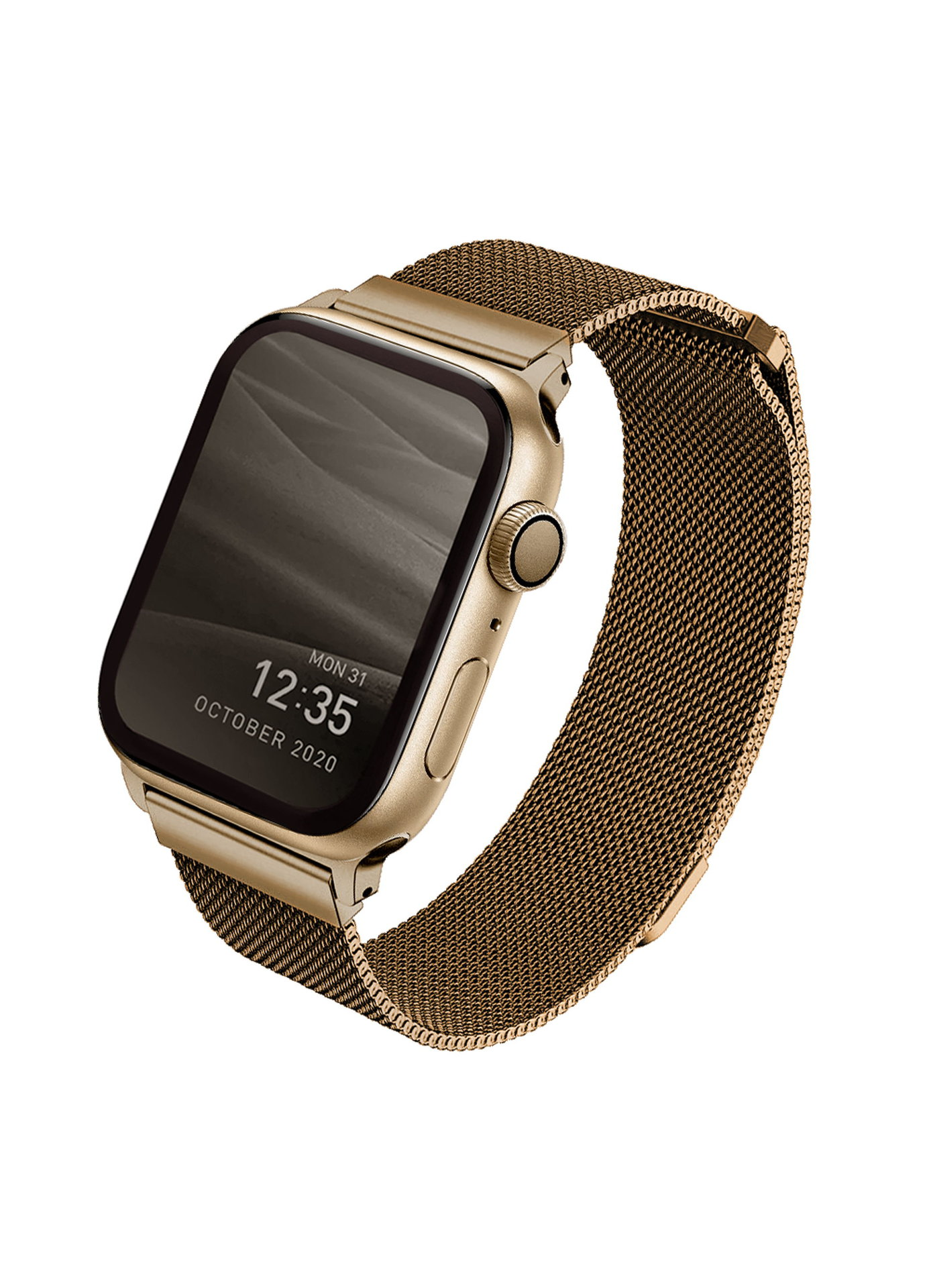 Uniq Dante ocelový řemínek Apple Watch 44/42mm zlatý