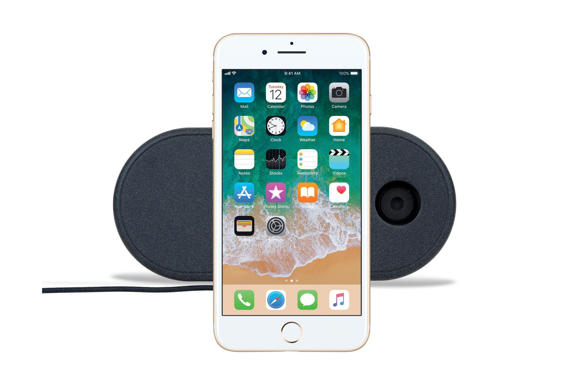 Uniq Aereo 3 in 1 fast wireless charger 7.5/10W - Charcoal