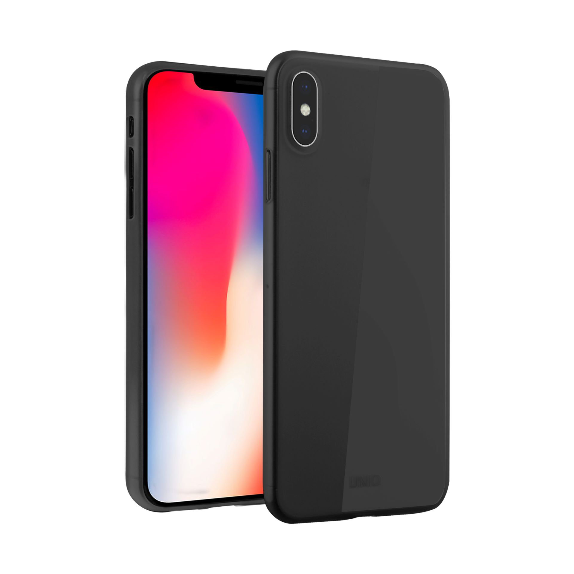 Uniq Bodycon Matte iPhone XS/X Midnight černé